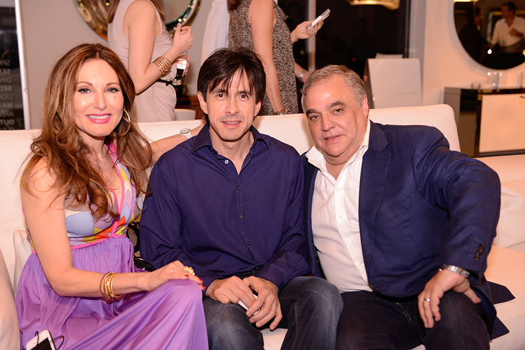 Art Basel Miami: Tara Soloman with Dr. Richard Restrepo and Lee Schrager, founder of South Beach Wine & Food Festival