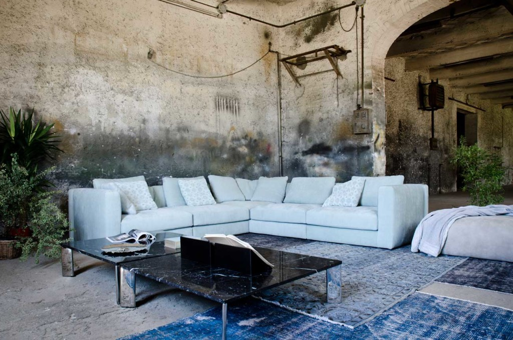 Soft, contemporary Bellavista sofa by Frighetto lab featuring a clean modern design