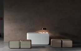 Presotto Passion night collection featuring modern nightstands and dressers for the contemporary bedroom