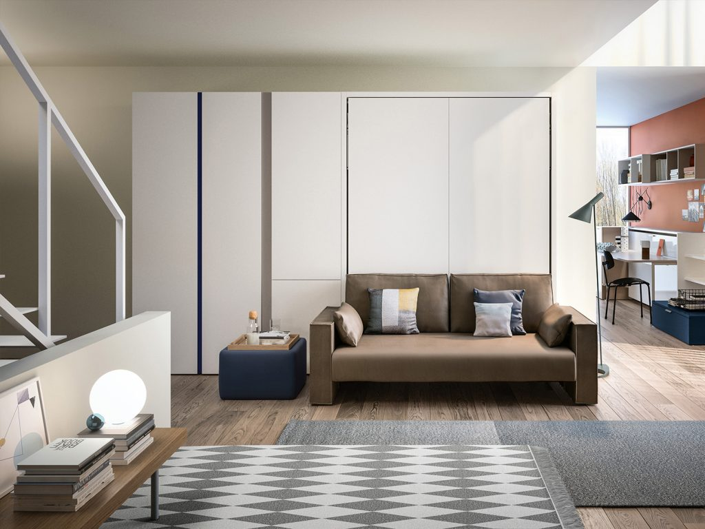Penelope wall bed with sofa by clei anima domus - What is a sofa bed ...