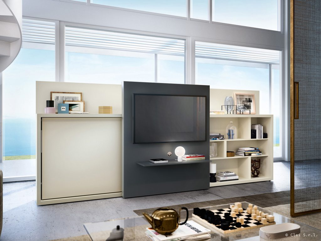 Poppi Theatre Wall Bed Tv Unit By Clei Anima Domus