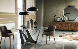 Modern Cattelan Skorpio Contemporary dining table by Cattelan Italia