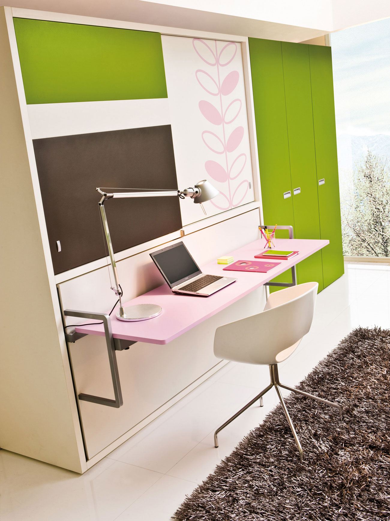 Poppi Board wall bed convertible system by Clei