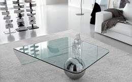 Shaped Globe coffee table in glass by Cattelan Italia