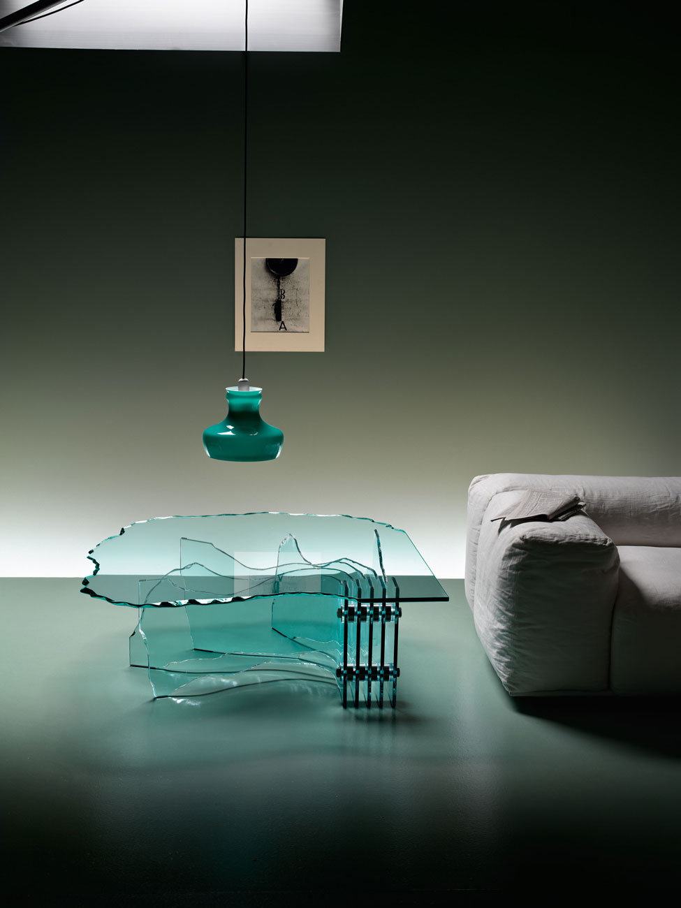 Shell table by Fiam Italia